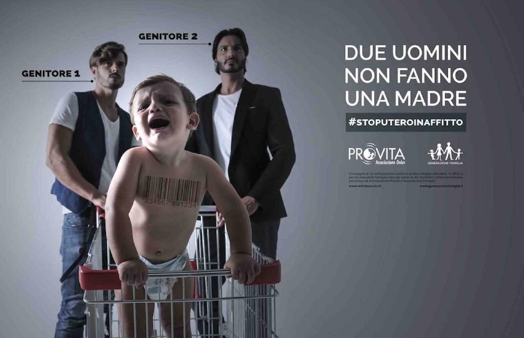 La campagna #StopUteroInAffitto è promossa dalle associazioni Pro Vita e Generazione Famiglia